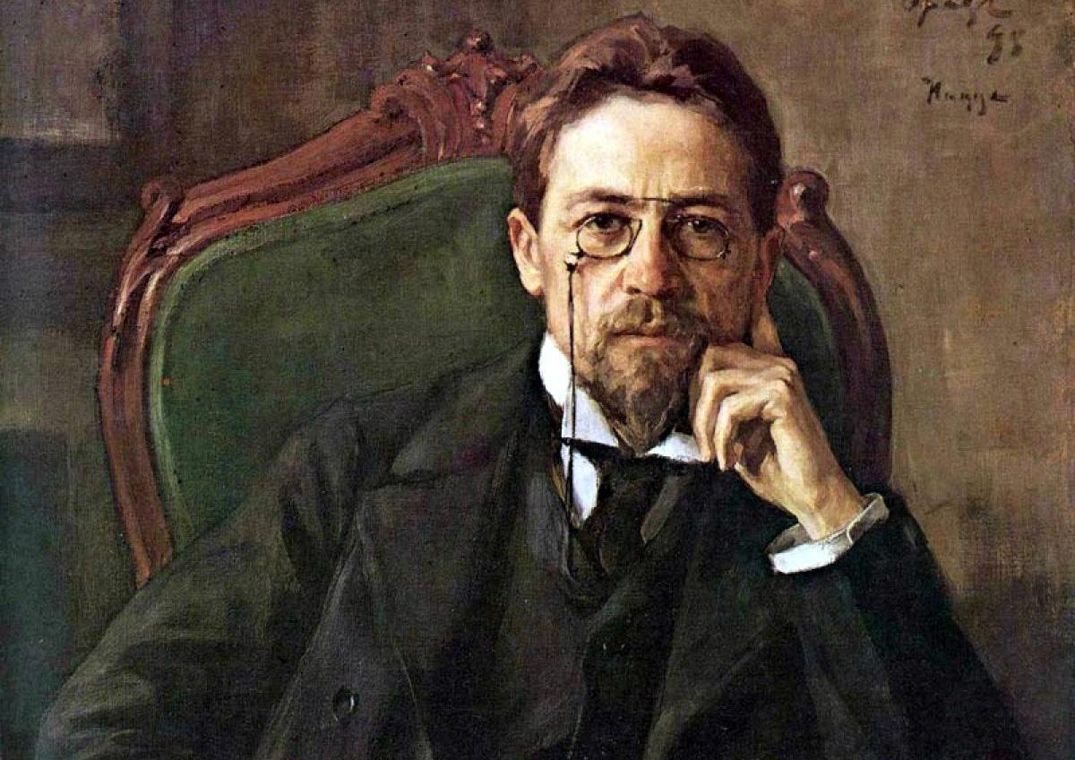 Antón Chéjov, uno de los más grandes médicos escritores o escritores médicos, retratado por Osip Braz (1898).