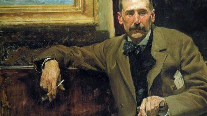 Benito Pérez Galdós por Joaquín Sorolla y Bastida (1894). Casa-Museo Pérez Galdós.