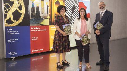 """De izquierda a derecha: la directora de CaixaForum Madrid, Isabel Fuentes; la directora general adjunta de la Fundación Bancaria """"la Caixa"""", Elisa Durán, y el director del Área de Cultura y Divulgación Científica de la Fundación Bancaria """"la Caixa"""", Ignasi Miró."""