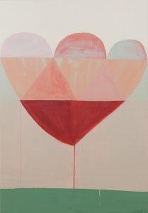 Sabine Finkenauer. Flor, 2018. Acrílico sobre tela. 130 x 90 cm.
