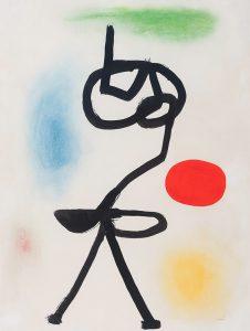 Joan Miró, 'Figure devant le soleil', 1942, cortesía de la Galería Guillermo de Osma.