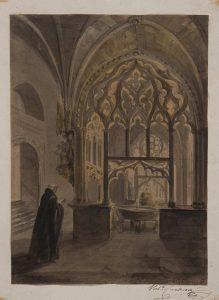 Claustro del monasterio de Oña, Burgos - Dib/18/1/10083.