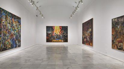 Jörg Immendorff. La tarea del pintor. Fotografía: Joaquín Cortés / Román Lores. Archivo fotográfico del Museo Reina Sofía.