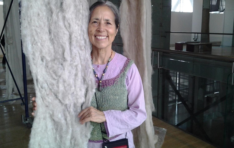 Artist and poet Cecilia Vicuna at Museno Nacional de Bellas Artes, Chile. http://radio.uchile.cl/wp-content/uploads/2015/01/Retrato-Cecilia-Vicu%C3%B1a.jpg