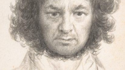 Autorretrato Francisco de Goya. 233 x 144 mm. 1796. Nueva York, The Metropolitan Museum of Art, Harris Brisbane Dick Fund, 1935.