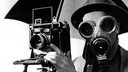 Lee Miller. David E. Scherman dressed for war London England, 1942.