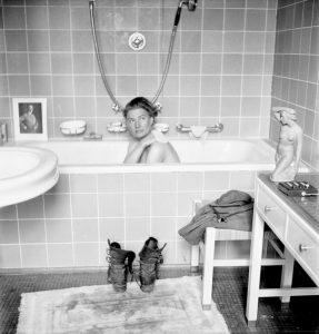 Lee Miller en la bañera de Hitler. © David E. Scherman.