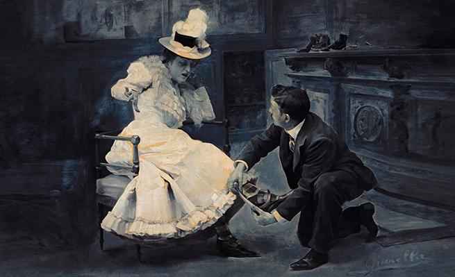 Madame Gironella, Medidas exactas, 1900.