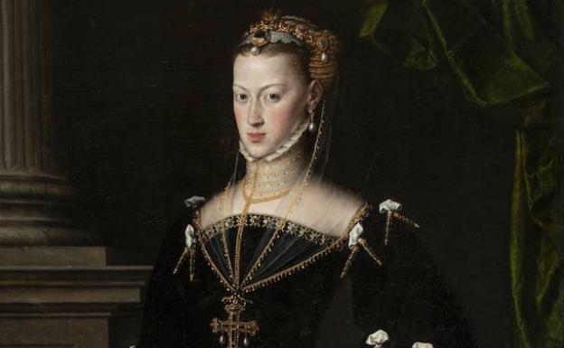 La emperatriz María de Austria, hija de Carlos V, retratada por Antonio Moro en 1521 / Museo del Prado.