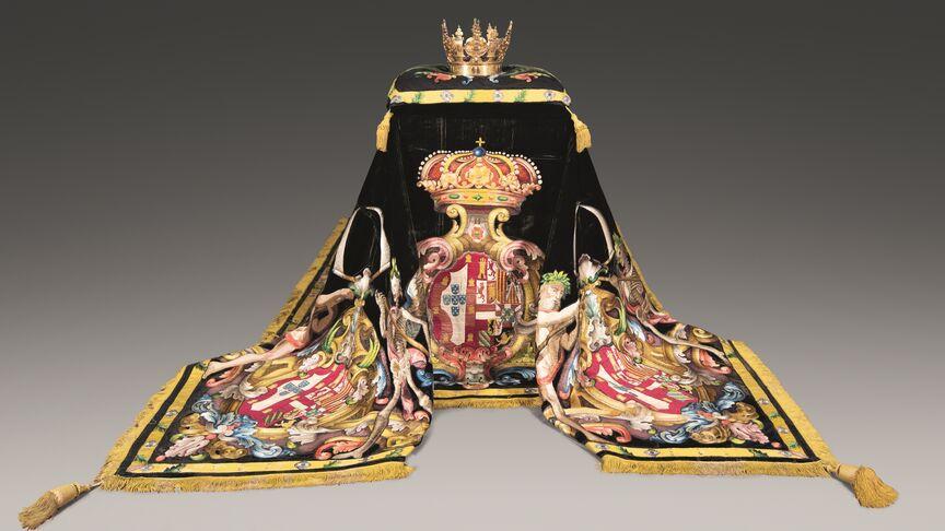 Conjunto del túmulo de Juana de Portugal, conservado en el Monasterio de Las Descalzas. Patrimonio Nacional.