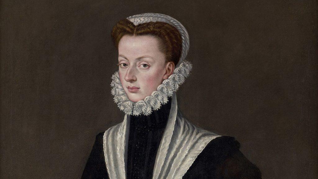 Retrato de Juana de Austria, pintado por Alonso Sánchez de Coello hacia 1566. Patrimonio Nacional.