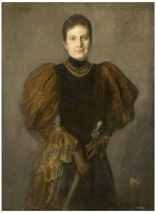 La infanta Paz de Borbón Franz-Seraph von Lenbach 1894 Óleo sobre lienzo. 110 x 83 cm. Madrid, Museo Nacional del Prado.