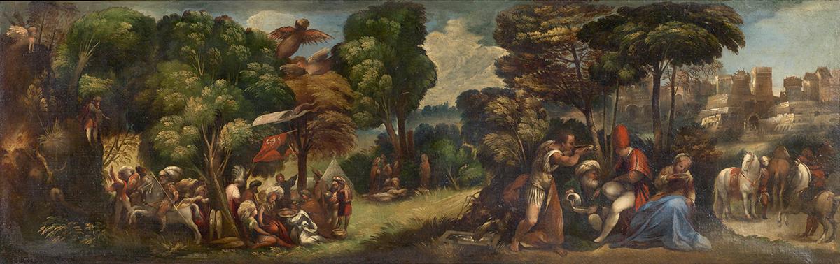 Dosso Dossi. 'Eneas y las harpías' (detalle), s XVI.