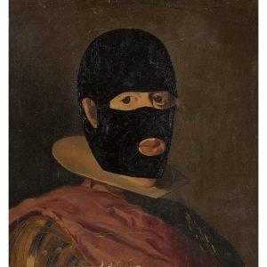 Eduardo Arroyo. 'Fantômas déguisé en Giorgio de Chirico', 2006.