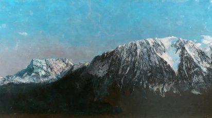 'Panorámica de los Alpes'. Museo de Arte e Historia de Ginebra. Óleo sobre lienzo, Gustave Courbet (c. 1876).