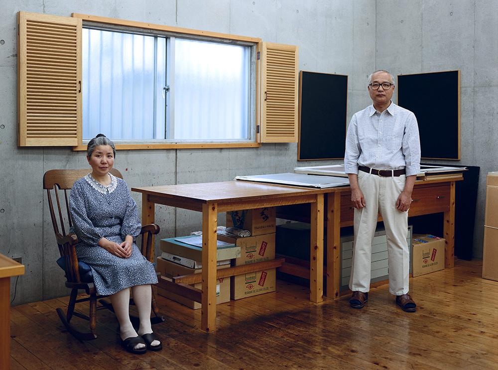 Thomas Struth. Kyoko y Tomoharu Murakami, Tokio, 1991. Impresión de tinta. 151 x 187 cm. © Thomas Struth.