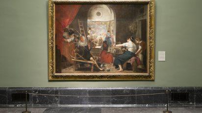 Imagen de la sala de Las Hilanderas de Velázquez. © Museo Nacional del Prado.