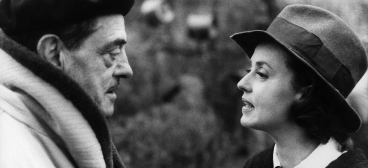Buñuel con Jeanne Moreau en el rodaje de Le journal d'une femme de chambre (1964).