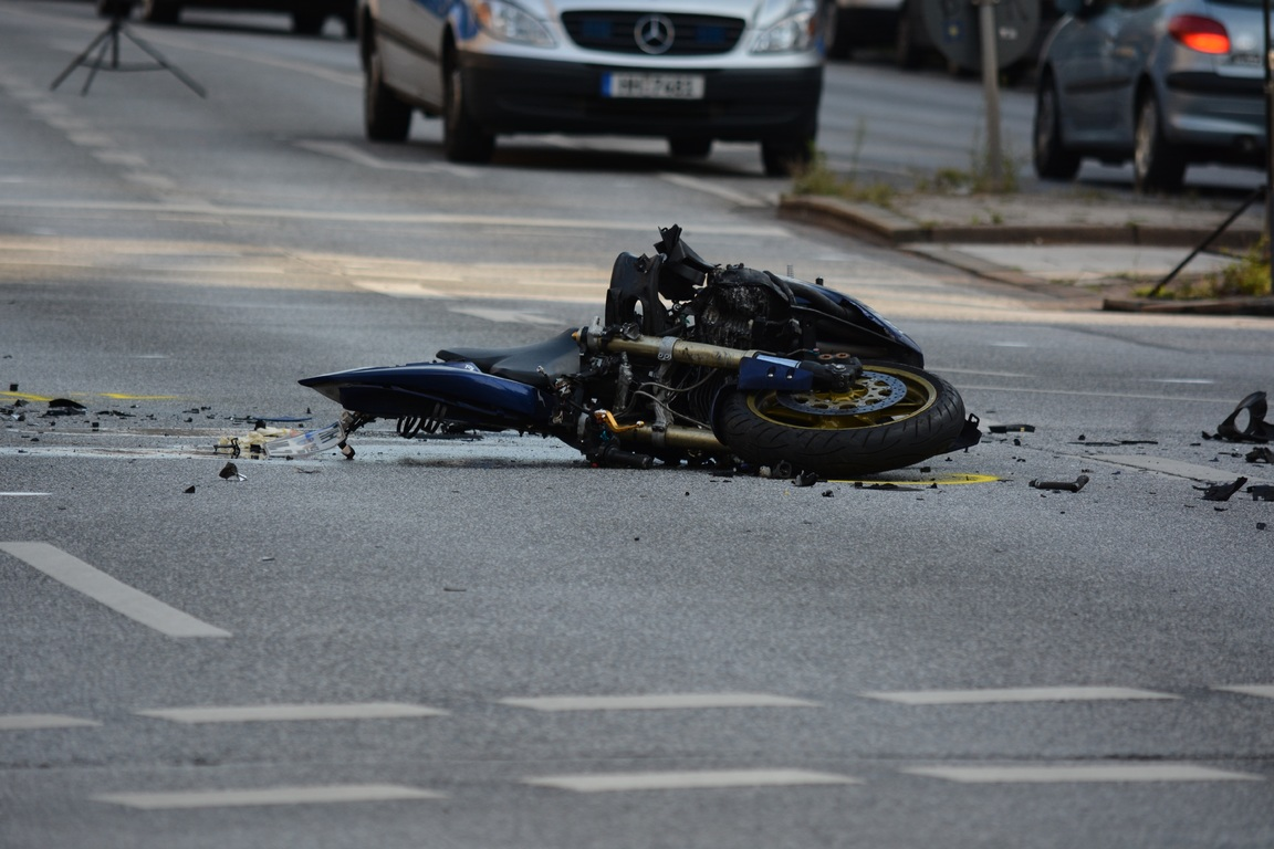 accidente tráfico motocicleta