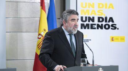 Intervención del ministro de Cultura y Deporte, José Manuel Rodríguez Uribes. Pool Moncloa / Borja Puig de la Bellacasa.