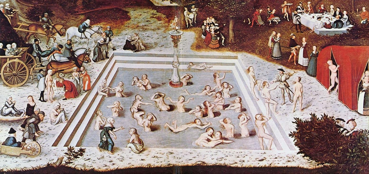 'La fuente de la juventud' por Lucas Cranach el Viejo.