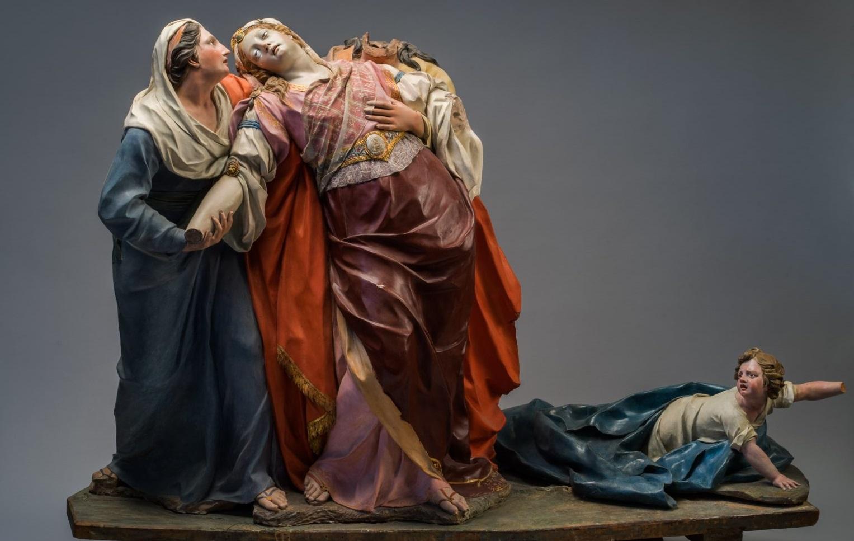 José Ginés. Tres mujeres y un niño. © Enrique Sáenz de San Pedro.