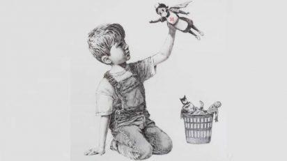 Obra que Banksy ha regalado al Hospital General de Southampton.