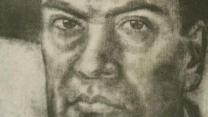 Daniel Vázquez Díaz. Retrato de Rubén Darío. Exposición Rubén Darío: una historia en fragmentos de papel.