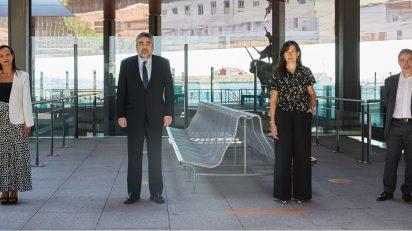 Beatriz Corredor, José Manuel Rodríguez Uribes, Ángeles González-Sinde y Manuel Borja-Villel.