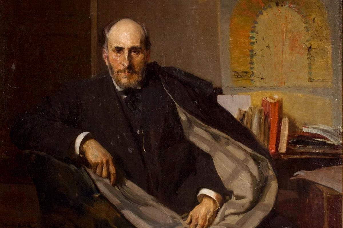 Joaquín Sorolla. Retrato de Santiago Ramón Cajal (1906). Museo de Zaragoza.