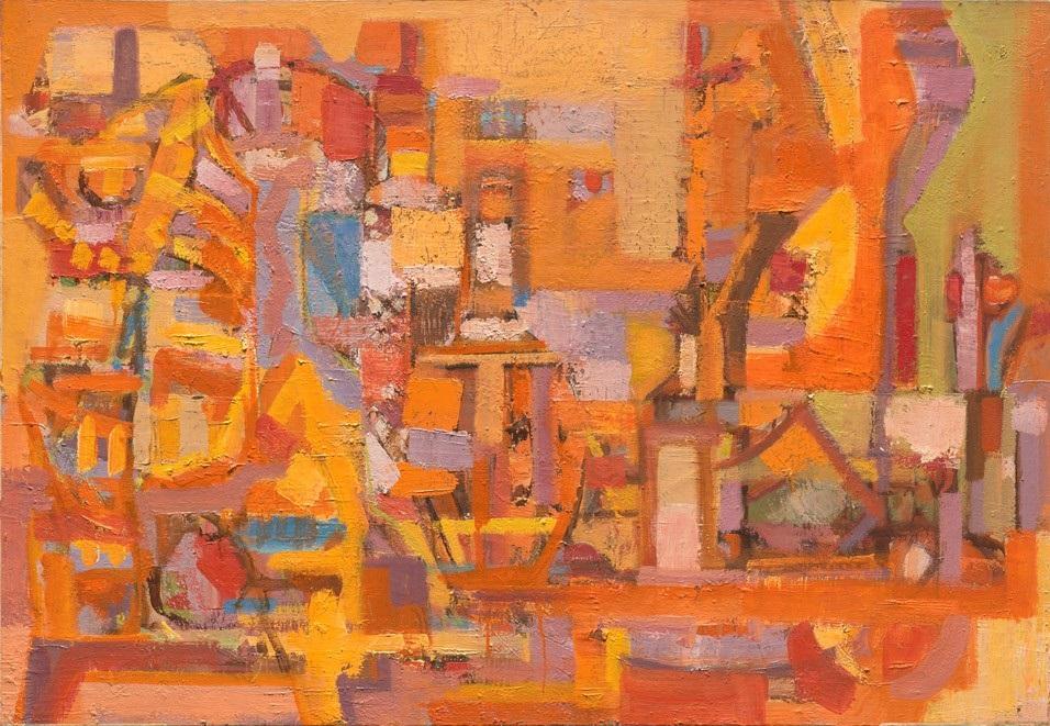 Orlando Pelayo. 'Peinture' (1956-58) Colección Familia de Orlando Pelayo.