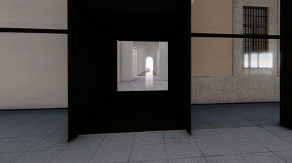 Recreación del acceso a las futuras salas desde Edificio Nouvel.