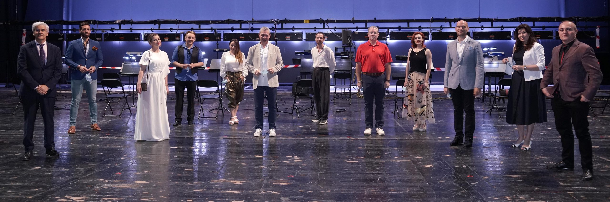 Participantes en la rueda de prensa de ´La Traviata'. © Javier del Real   Teatro Real.