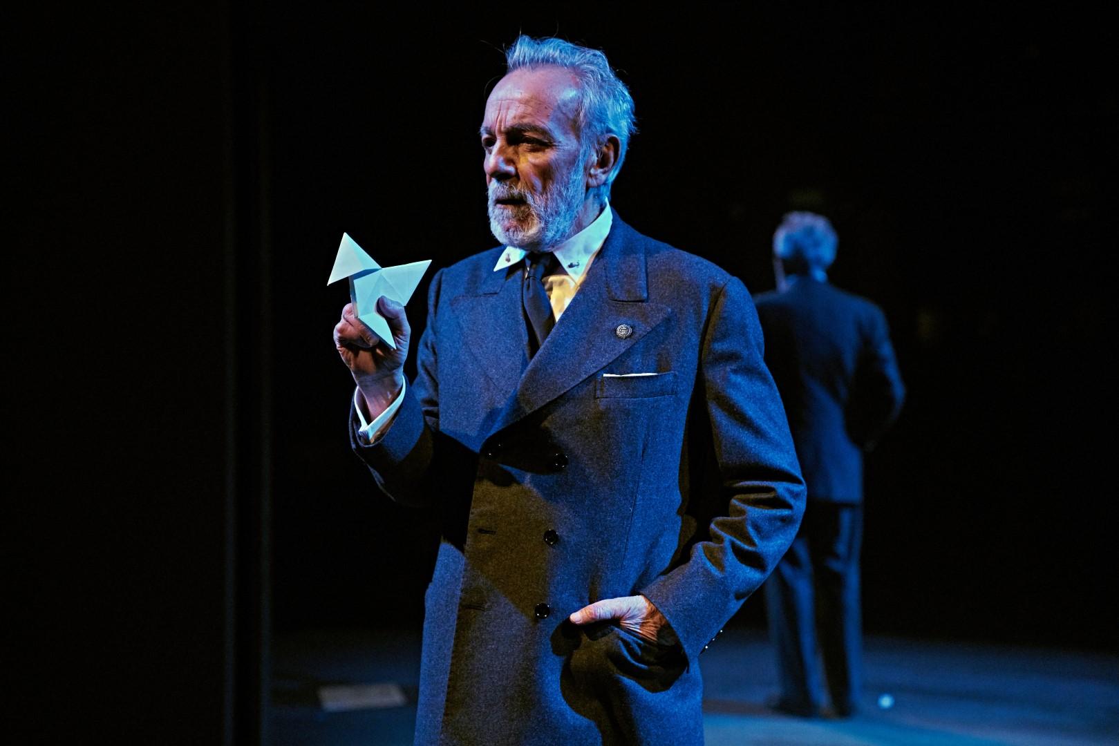 José Luis Gómez interpretando a Unamuno en 2019. Foto: Sergio Parra.