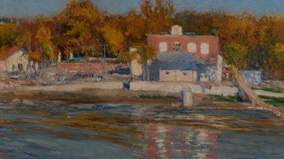 Aureliano de Beruete. Orillas del Manzanares, 1906. Óleo sobre lienzo. 57 x 80 cm. Colección particular.