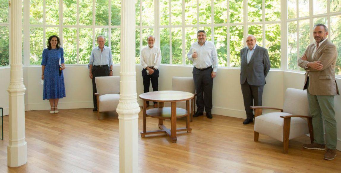 Lucía Sala, Gregorio Marañón, José Andrés Torres Mora, José Manuel Rodríguez Uribes, Javier García Fernández y Julián Zabala. © Moisés Fernández Acosta.
