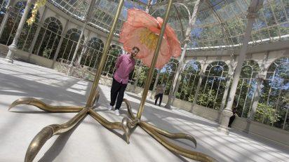 Petrit Halilaj en el Palacio de Cristal. © Luis Domingo.