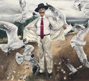 Santiago Ydáñez. Sin título, 2020. Acrílico sobre lienzo. 260,5 x 285,5 x 3 cm.