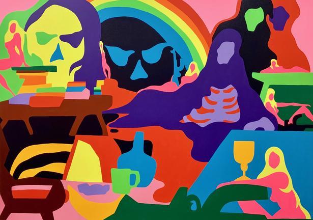 Todd James. Ultimate Offering, 2020. Acrílico sobre lienzo. 152,5 x 213,5 cm.