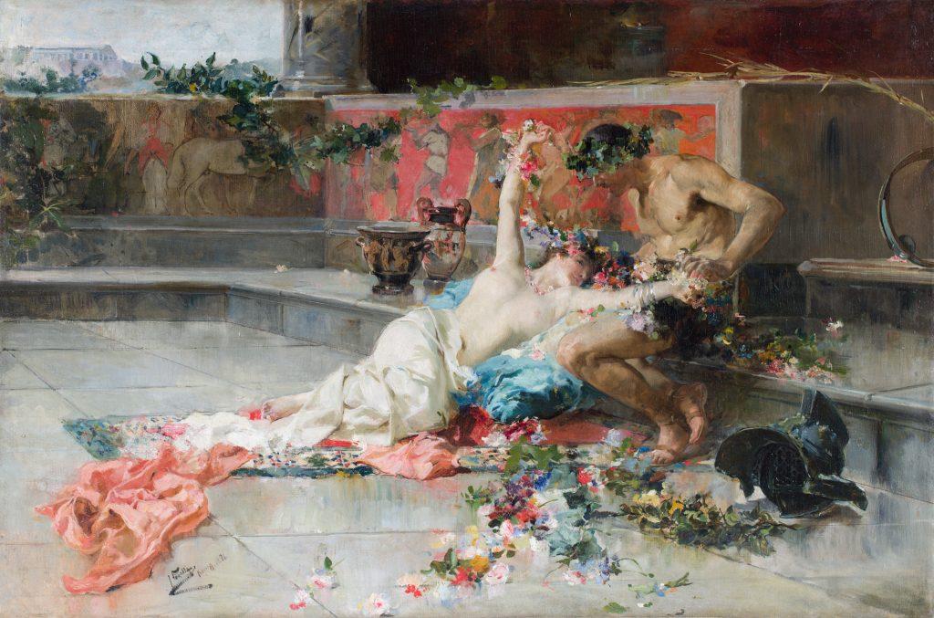 Joaquín Sorolla. 'Mesalina en brazos de un gladiador', 1886. Colección BBVA.