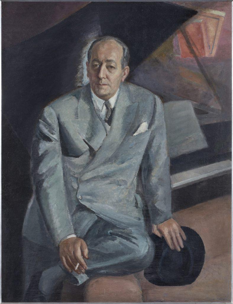 Daniel Vázquez Díaz (1882-1969). Retrato de Félix Fernández-Valdés (c. 1950). Colección de Rafael Botí.