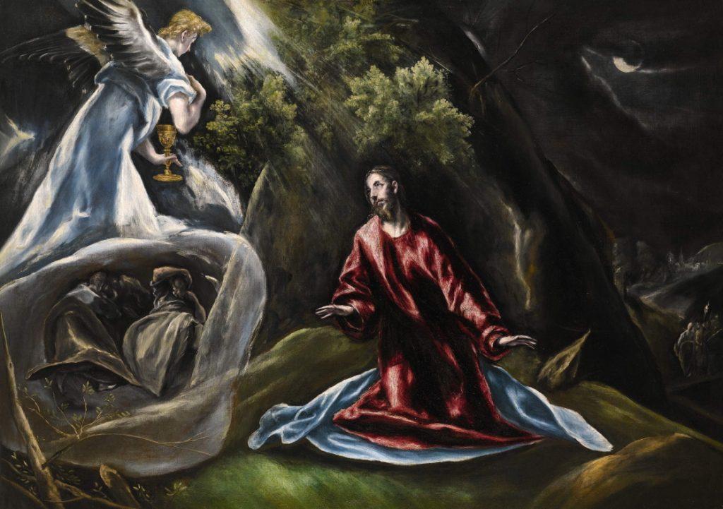 El Greco (1541-1614). 'La Oración en el huerto de Getsemaní o Cristo en el Monte de los Olivos' (c. 1600). Colección Pittas.