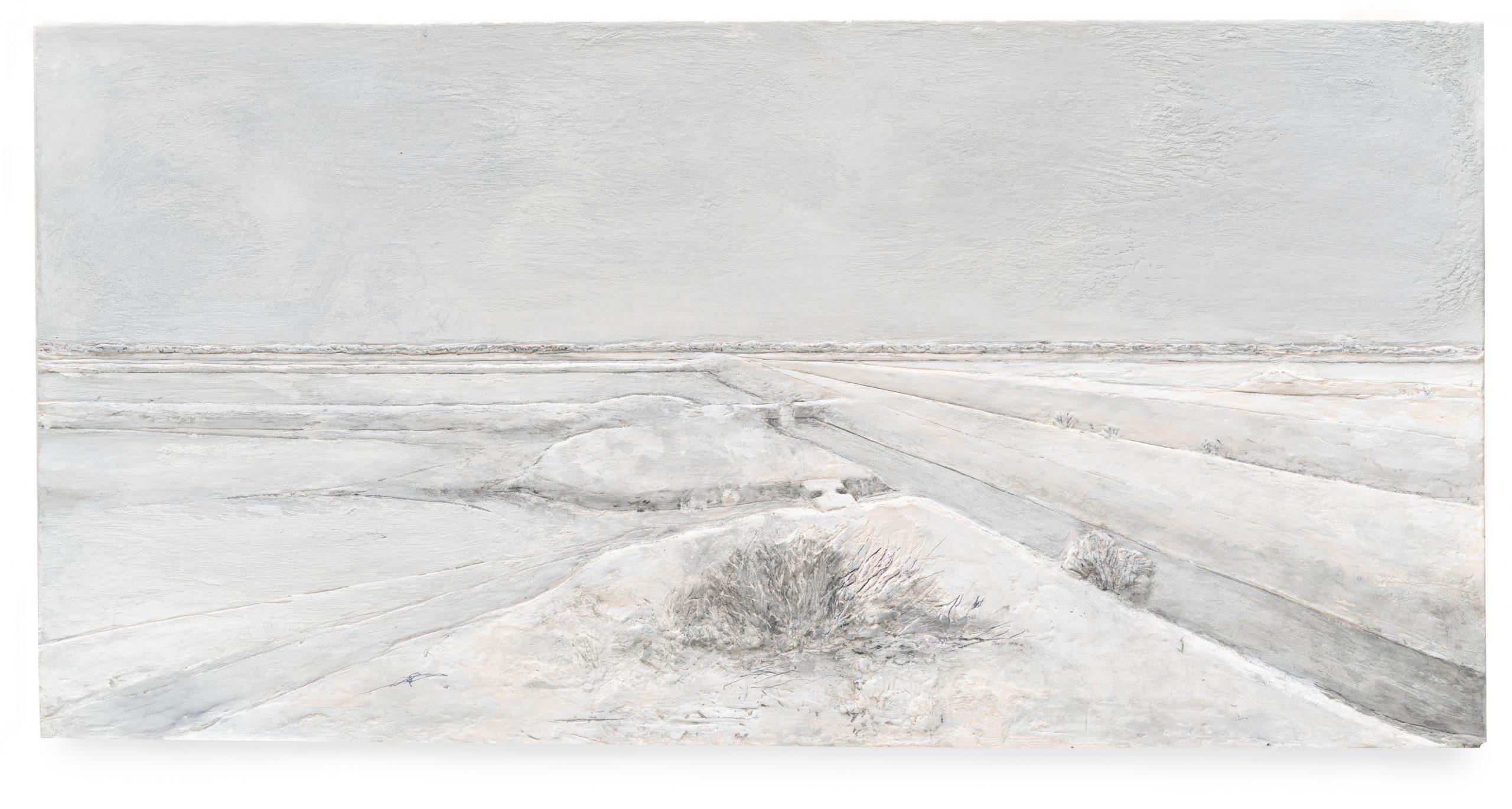 Carmen Laffón. 'La Sal, Salinas de Bonanza, Sanlúcar de Barrameda', Relieve. 30,5 x 61 cm. © Claudio del Campo.