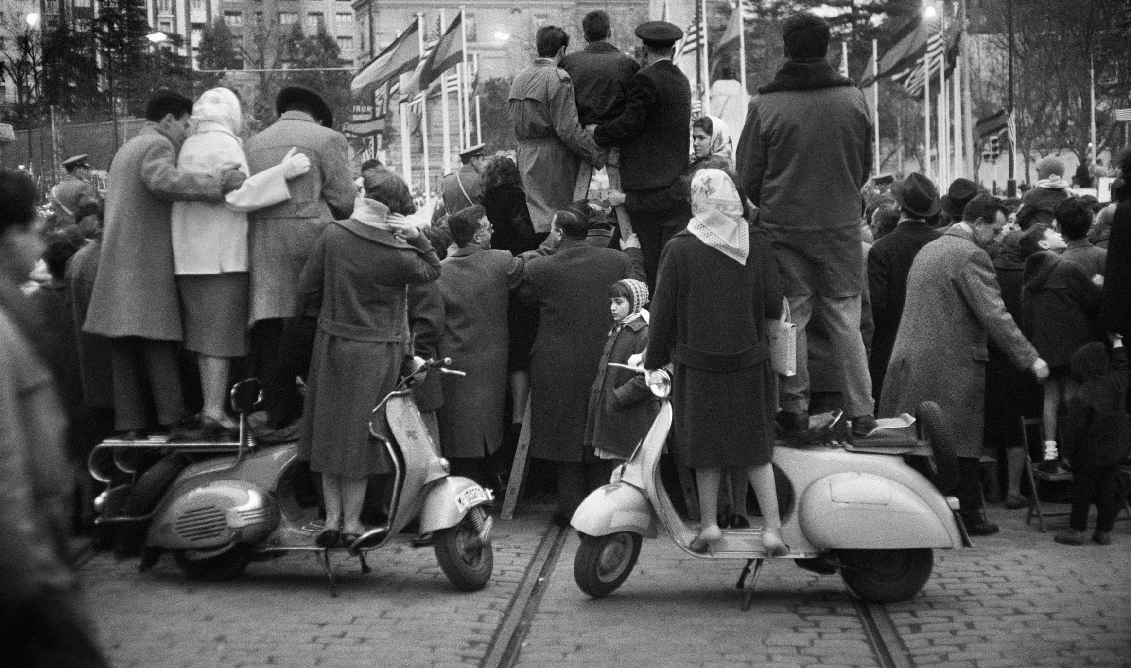 Ramón Masats. Visita del presidente Eisenhower. Madrid. 1959.