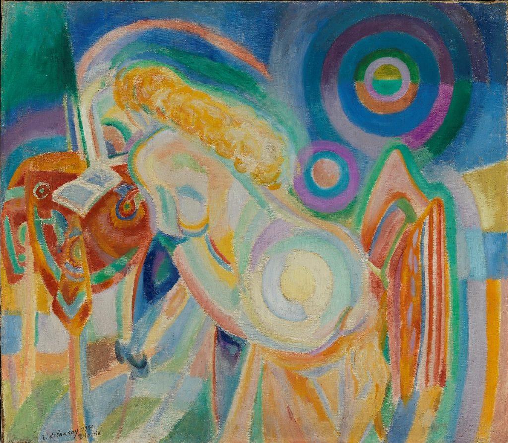 Robert Delaunay (1885-1941). 'Femme nue lisant' (Mujer desnuda leyendo), 1920. Museo de Bellas Artes de Bilbao.
