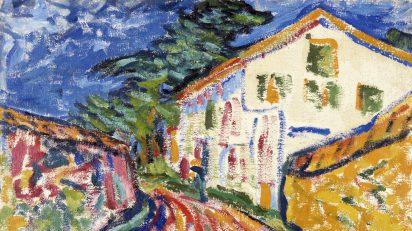 Erich Heckel. 'Casa en Dangast (La casa blanca)', 1908. Colección Carmen Thyssen-Bornemisza. © VEGAP, Madrid.