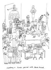 Ilustración de Grace Coddington para su libro de Memorias.