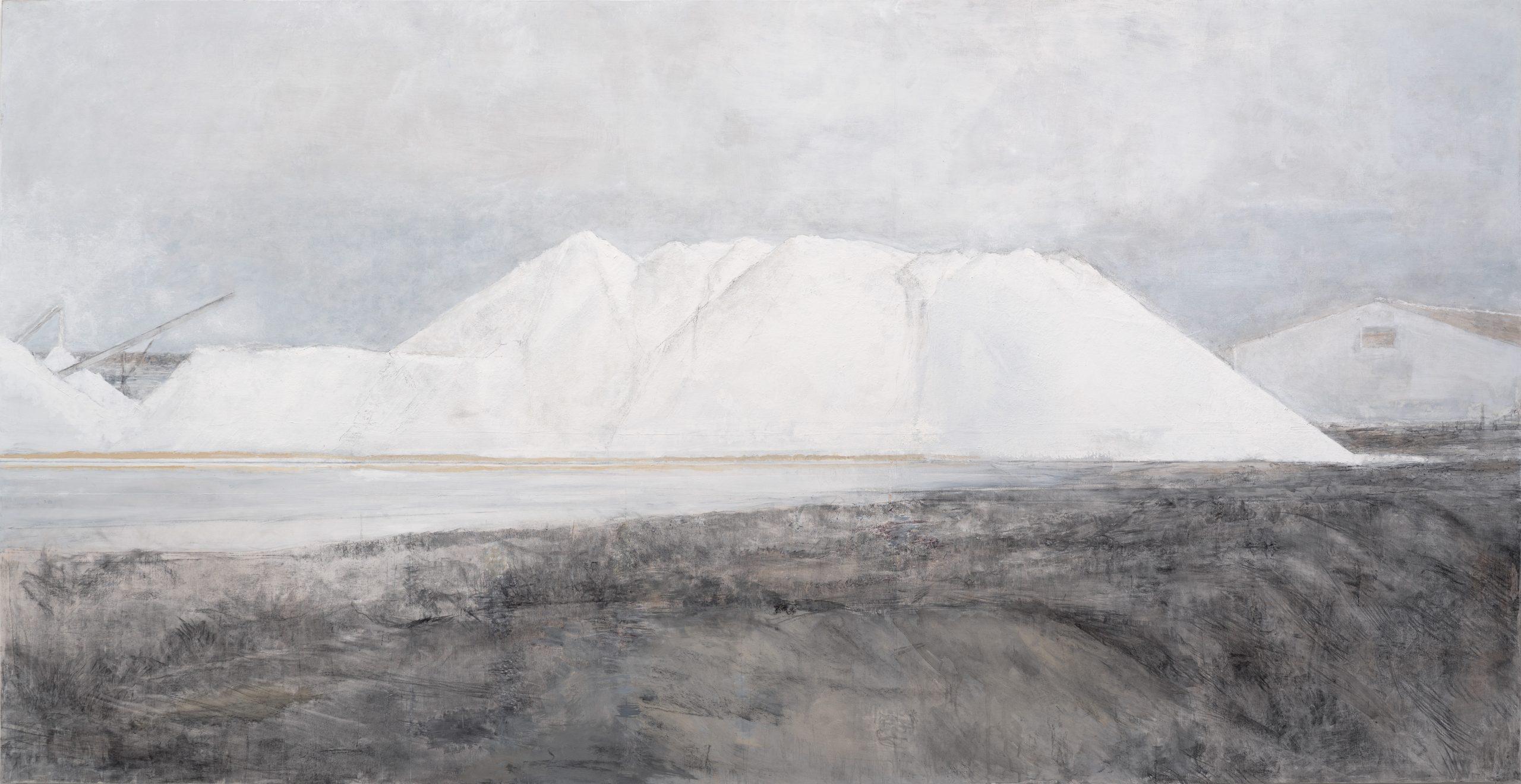 Carmen Laffón. 'La Sal, Salinas de Bonanza', Sanlúcar de Barrameda. 153 x 296 cm. ©Claudio del Campo.