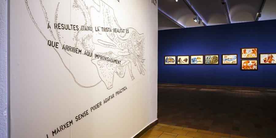 'Listening to the Shades'. Nalini Malani, 2007. © Fundació Joan Miró. Foto: Tanit Plana.