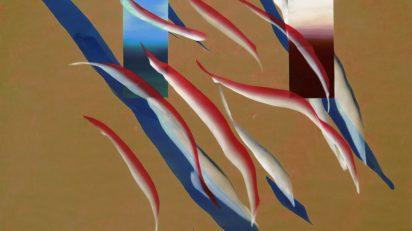 José Manuel Broto. Sin título, 2020. Acrílico sobre papel. 150 x 200 cm.